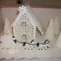 White Winterland Wedding Everything is made from royal icing. I got the carriage pattern from Cakelady247 and the church from Kay_NL. I never got the steeple on the...