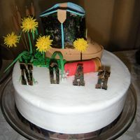 Camo Baby Shower Who says hunting and babies don't go together. This cake was done for my cousin. She and her husband are big hunters and have...