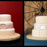 This Is Why I Don't Do Wedding Cakes... Offered to make a cake for my brother's wedding. 2nd marriage for both so it's an informal affair with a western theme. I did...