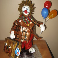 Billy The Clown !! All made of pulled and blown sugar and suitecase is made of fondant..