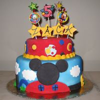 Mickey Mouse Clubhouse Cake For my sons 5th birthday!