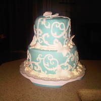 Cricut Cake For Fun I did this cake just for fun when i got my Cricut Cake. I had left over fondant and so decided to put that on and then do some designs with...