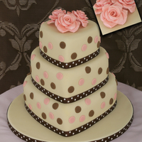 Romantica 3 Tier Heart shaped cake with romantic sugar roses
