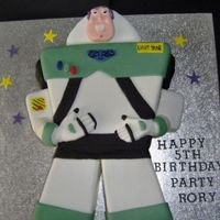Buzz Lightyear madeira flavoured carved birthday cake which made a little boys dreams come true!