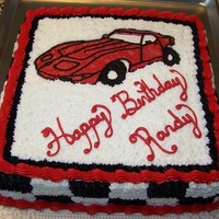 1960's To 1970's Corvette  This was a bday cake for a friend's son. He is in love with red corvettes particularly the body styles of the 1960-1970. It was a 14in...