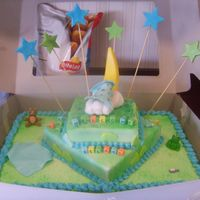 Camera_312.jpg I made this cake for a girl i work w. all decorations are gumpaste