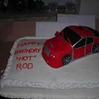 Bentley Bday Cake This was made w/RKT and covered in red fondant.This was my first car.