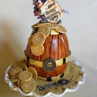Mickey Pirate Rum Cask Birthday Cake