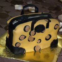 Bridal Shower Leopard Print Handbag Cake
