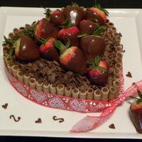 Heart Shaped Barrel Cake