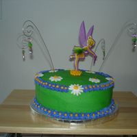 Tinkerbell Cake This was my first tinkerbell cake that I did.