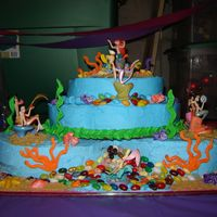 Under The Sea Thanks to a photo I saw on her I was able to make my daughters 6th birthday cake. I learned a lot from this cake!