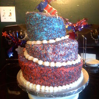 4Th Of July Topsy Turvey This was my first attempt at Topsy Turvey cake. I was pretty proud of it. My kitchen was definitely covered in sugar crystals though. I...