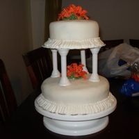 Tiger Lily Tiered Cake My first tiered cake