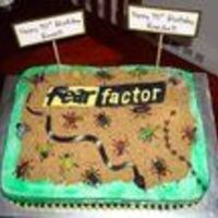 Fear Factor Birthday Cake   Made for my twin nephew's birthday.