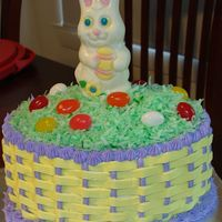 Hoppy Easter!! All BC icing, dyed coconut on top with store-bought bunny
