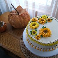 Autumn Birthday   9 inch carrot with decorators cream cheese icing.For a mother and sons birthday celebration.