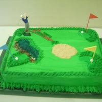 Groom's Shower Golfer Cake  For a joint bridal/groom shower. My first attempt at a 'themed' cake...I liked the outcome...I know what better to do next time!...