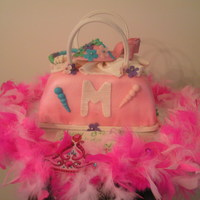 8 Year Old Glamour Girl's Birthday   Yellow butter cake with buttercream frosting. Gumpaste shoes and accessories.