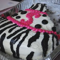 Zebra And Pink Birthday Cake S for Sams birthday! It is purple velvet, i thought that would go better with the pink than red!