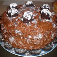 Cookies And Cream Oreo Cake Super amazing tasting cookies and cream cake! with a little extra batter left over i made some cake balls, and they turned out to be the...