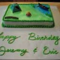 Camping.jpg Camping cake that didn't require much work. The kit came from a local cake supply company and it was a pretty easy cake. But it was...