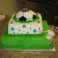 Soccrbubbles.jpg This birthday cake was for a friends daughter whose 2 favorite things are soccer & bubbles.It took me two days to think of this design...