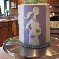 Baby Bump Baby shower cake for a good friend.