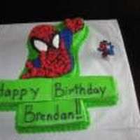 Spidrmn.jpg This cake was for my cousins son. He turned 3 in July and every time I saw him up until then he was asking me when I was going to get him...