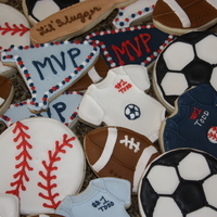 Sports Cookies Made these for my sister's sports themed baby shower. NFSC with Antonia74's royal icing. Was really happy with the way they...
