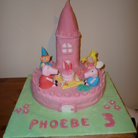 Phoebes 3Rd Birthday Cake ben and holly have a picnic with peppa pig ang george phoebe couldnt decide which cake she wanted ! sponge cake with fondant figures