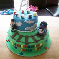 Tyler Jo,s Christening Cake a christening cake for a 2 year old who wanted thomas the tank engine