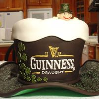 Guinness Hat Cake Won 2nd place for this cake at the Mid Atlantic Cake Show in 2007. It was actual cake with a fondant brim. The 4 leaf clovers were hand...