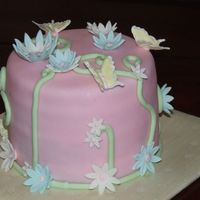 Butterfly Birthday Client asked for a cute cake for her daughters birthday. This is what I came up with. TFL
