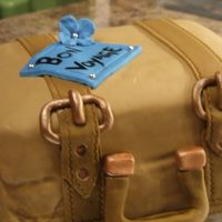 Good Bye First suitcase cake. Was fun! Made this for my moms friends that were moving. WASC with chocolate SMBC. Got the idea from a few CC mebers....
