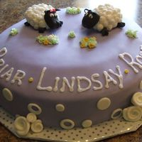 Sheep Cake This was for a little girl. Chocolate WASC cake with mocha swiss filling. Got the idea from lots of sheep here on CC. Thanks!!