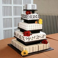 Square Fall Tier 5 tier square fondant cake (20, 16, 12, 8, 6)