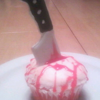 Butcher Knife Cupcakes These are the finished cupcakes