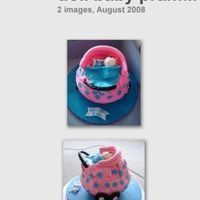 Doll Baby Pram Cake Vanilla Pound cake cover with fondant. Cake didn't came out as well as it should. Inspired by Debbie Brown Party Cakes. Learn some...