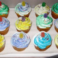 Swirly Gumdrop Cupcake Buttercream swirl topped with a gumdrop. View my other cakes at http://slicethecake.blogspot.com - Thanks for looking!