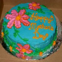Hawaiian Mother's Day Cake Hawaiian themed mother's day cake. All buttercream. View my other cakes at http://slicethecake.blogspot.com - Thanks for looking!