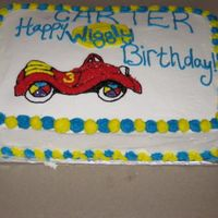 Wiggly Wiggles Big Red Car Birthday Cake