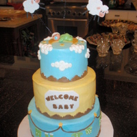 Baby Shower I am a beginner. Hope this gives inspiration, like others give to me. Fondant and buttercream decorations.