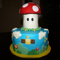 Super Mario Bros. Video Game Super Mario Bros. Buttercream with Fondant