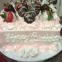 Strawberry Shortcake W/ Choc Covered Strawberries