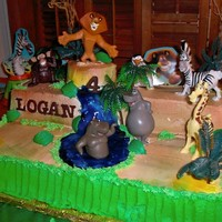 Madagascar This cake was for my nephew. He loved it. It was my first time airbrushing. I loved it.