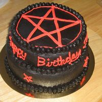 Goth Cake First time making black BC, I think it turned out good. Also, first time making a tiered cake, ended up a little lop-sided, but I'll...