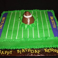 Football Birthday   Inspired by a cake done by Turtlemom! Football was made with candy melts and a wine glass as a mold.