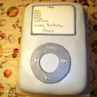 Ipod Cake Made an iPod cake for my 1st. paid customer and 1st. Fondant cake other than the class gift box cake