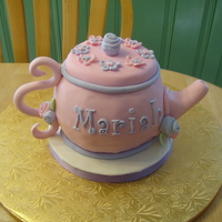 Teapot Cake My first teapot cake. Lemon cake w/Raspberry filling. fondant covered w/gumpaste handle and spout. Lots of fun to do. Little girl's...